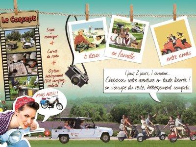 Scoot(er) Nomad :Balade Vintage -  Location de scooter, mob et rodéo  pour visiter  la drome provençale et +
